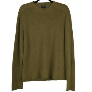Club Monaco Wool Ribbed Knit Crew Neck Sweater